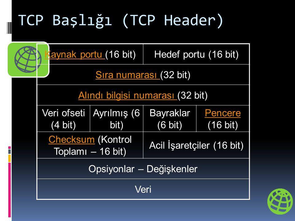 TCP Başlığı (TCP Header)