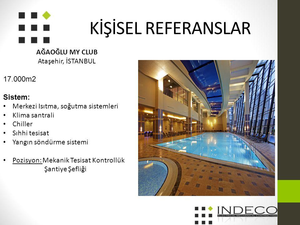 KİŞİSEL REFERANSLAR AĞAOĞLU MY CLUB Ataşehir, İSTANBUL 17.000m2