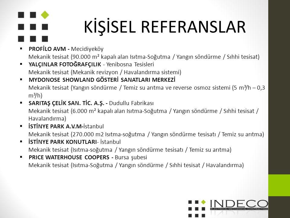 KİŞİSEL REFERANSLAR PROFİLO AVM - Mecidiyeköy