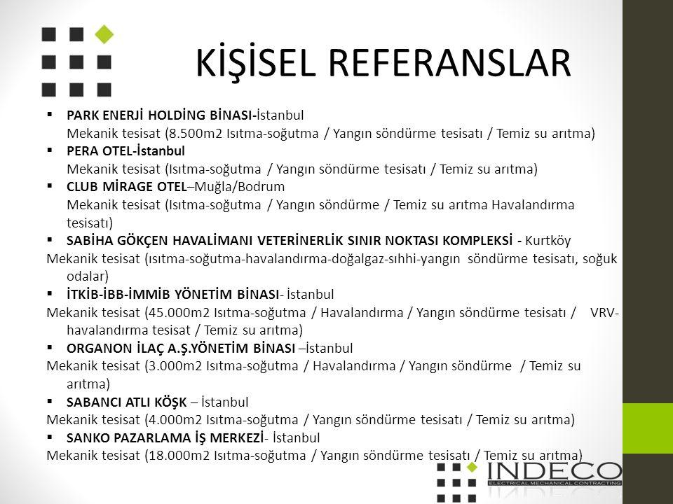 KİŞİSEL REFERANSLAR PARK ENERJİ HOLDİNG BİNASI-İstanbul