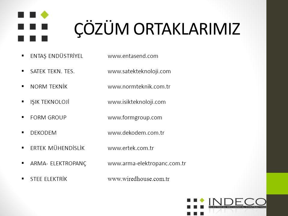 ÇÖZÜM ORTAKLARIMIZ ENTAŞ ENDÜSTRİYEL www.entasend.com
