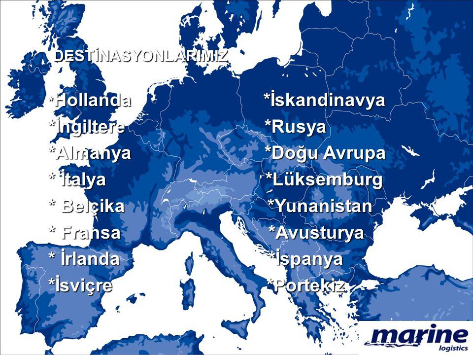 *İngiltere *Rusya *Almanya *Doğu Avrupa * İtalya *Lüksemburg
