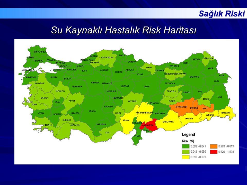 Su Kaynaklı Hastalık Risk Haritası