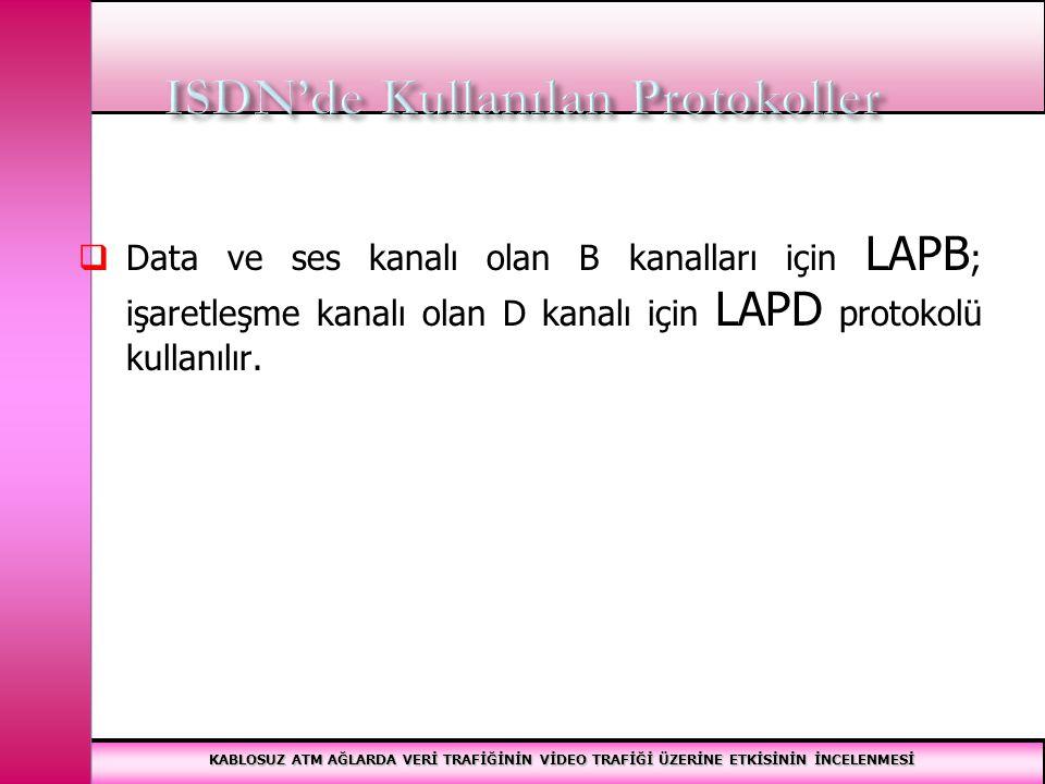 ISDN'de Kullanılan Protokoller