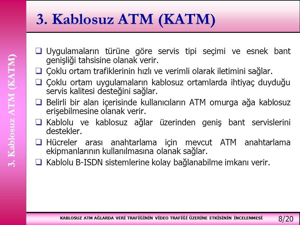 3. Kablosuz ATM (KATM) 3. Kablosuz ATM (KATM)