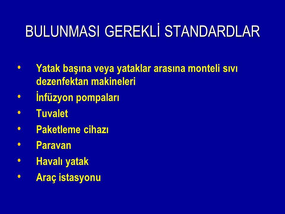 BULUNMASI GEREKLİ STANDARDLAR