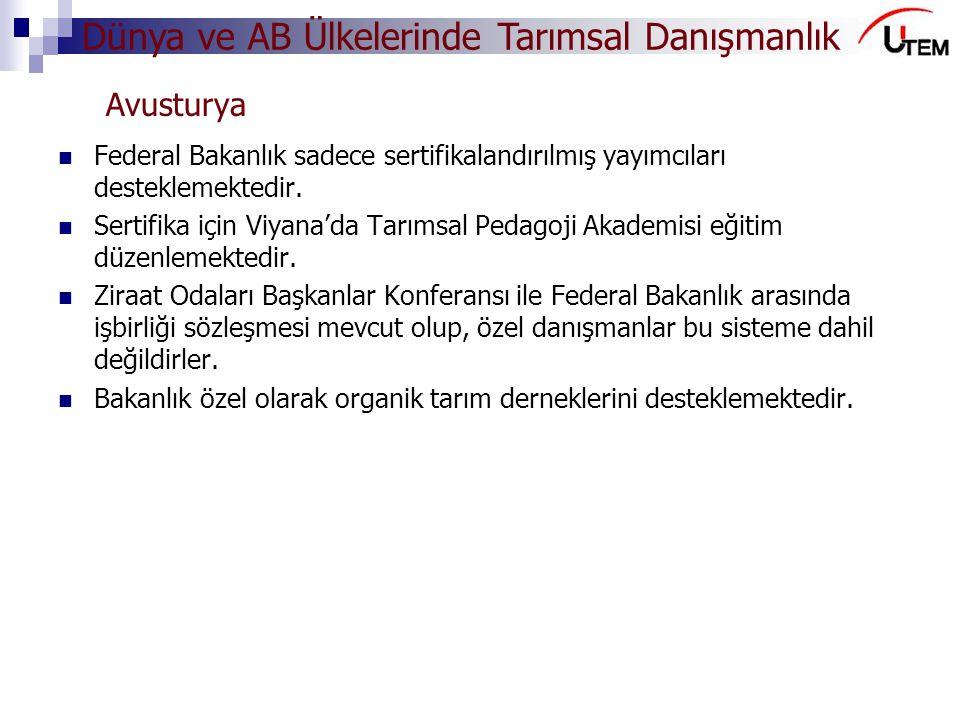 Avusturya Federal Bakanlık sadece sertifikalandırılmış yayımcıları desteklemektedir.