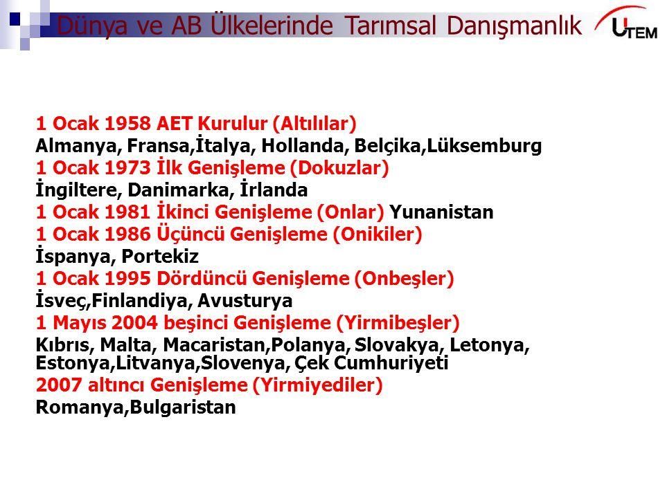 1 Ocak 1958 AET Kurulur (Altılılar)