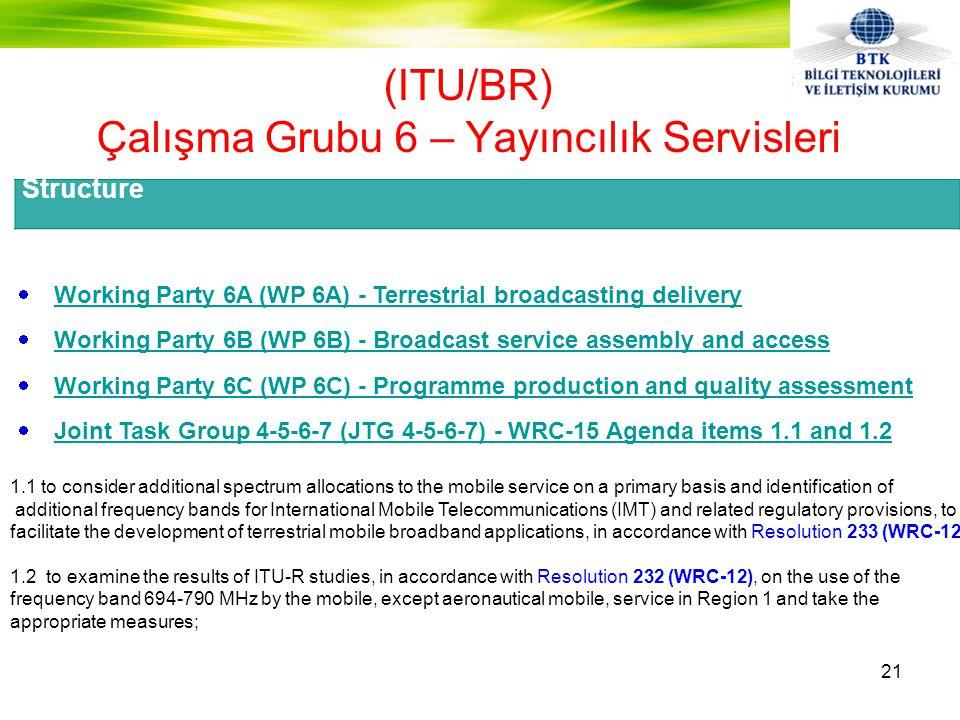 (ITU/BR) Çalışma Grubu 6 – Yayıncılık Servisleri