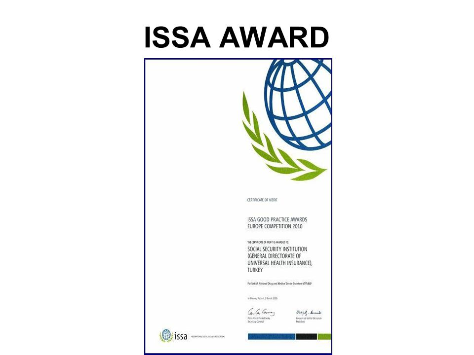 ISSA AWARD