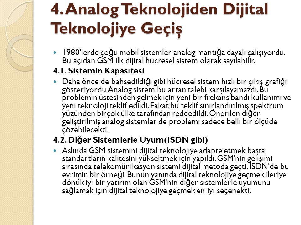 4. Analog Teknolojiden Dijital Teknolojiye Geçiş