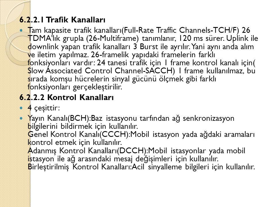 6.2.2.1 Trafik Kanalları