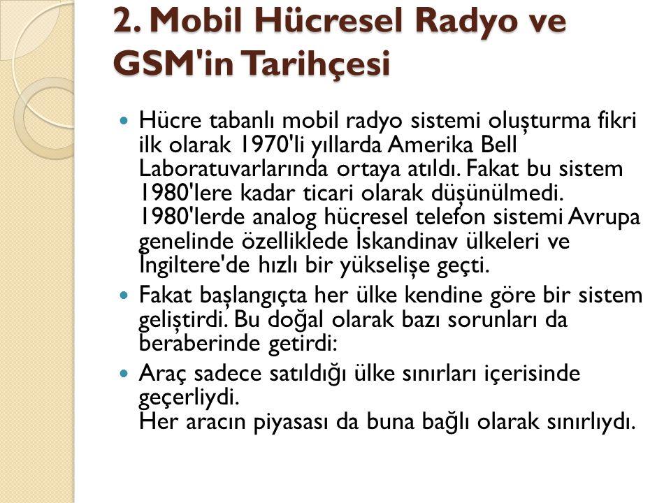 2. Mobil Hücresel Radyo ve GSM in Tarihçesi