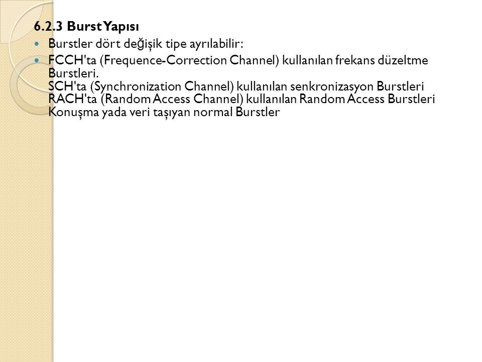 6.2.3 Burst Yapısı Burstler dört değişik tipe ayrılabilir: