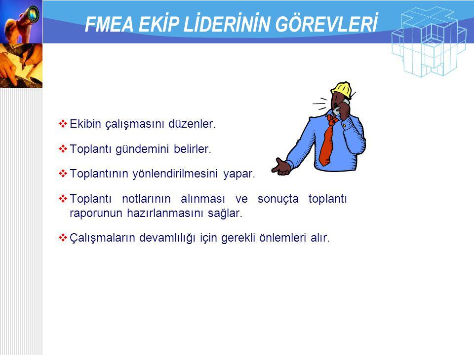 FMEA EKİP LİDERİNİN GÖREVLERİ