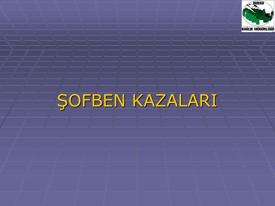 ŞOFBEN KAZALARI