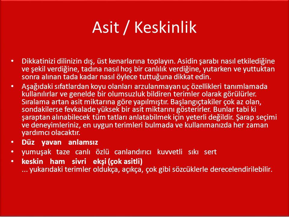 Asit / Keskinlik
