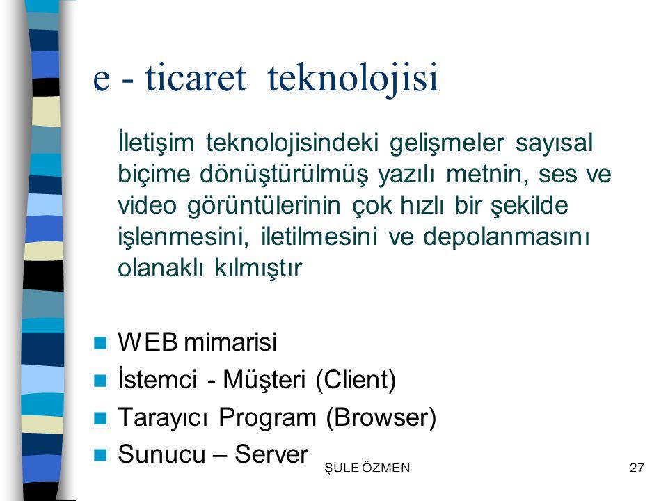 e - ticaret teknolojisi