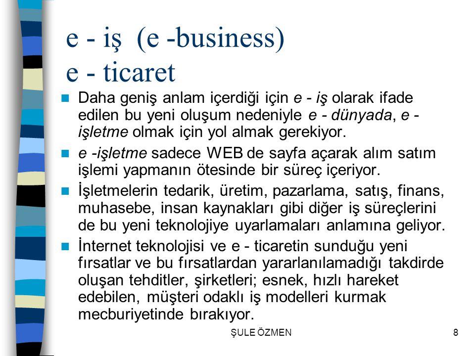 e - iş (e -business) e - ticaret