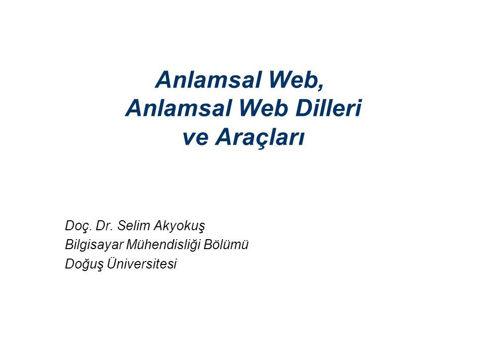 Anlamsal Web, Anlamsal Web Dilleri ve Araçları