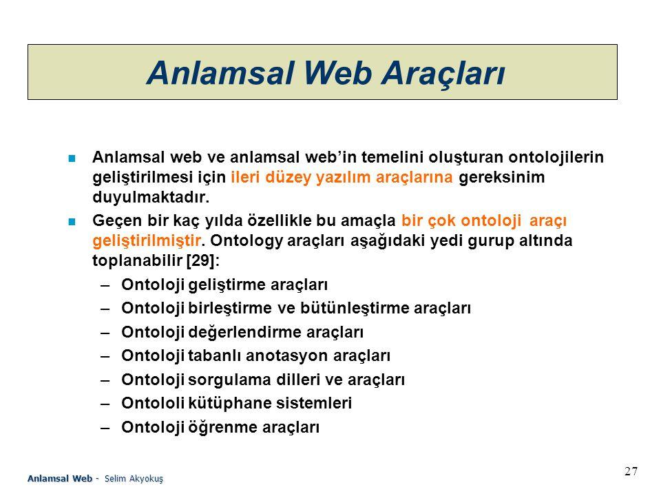 Anlamsal Web Araçları