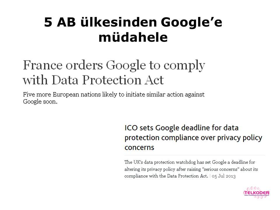5 AB ülkesinden Google'e müdahele