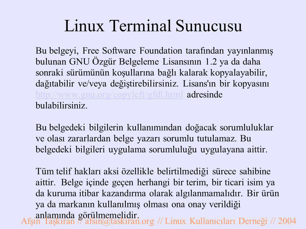 Linux Terminal Sunucusu
