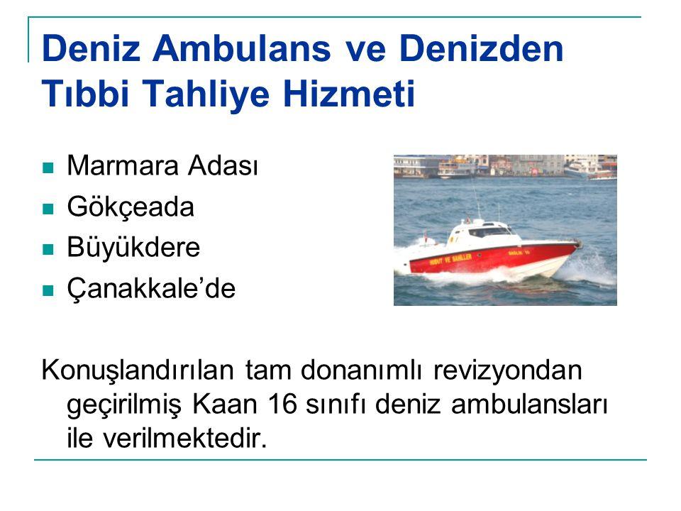 Deniz Ambulans ve Denizden Tıbbi Tahliye Hizmeti