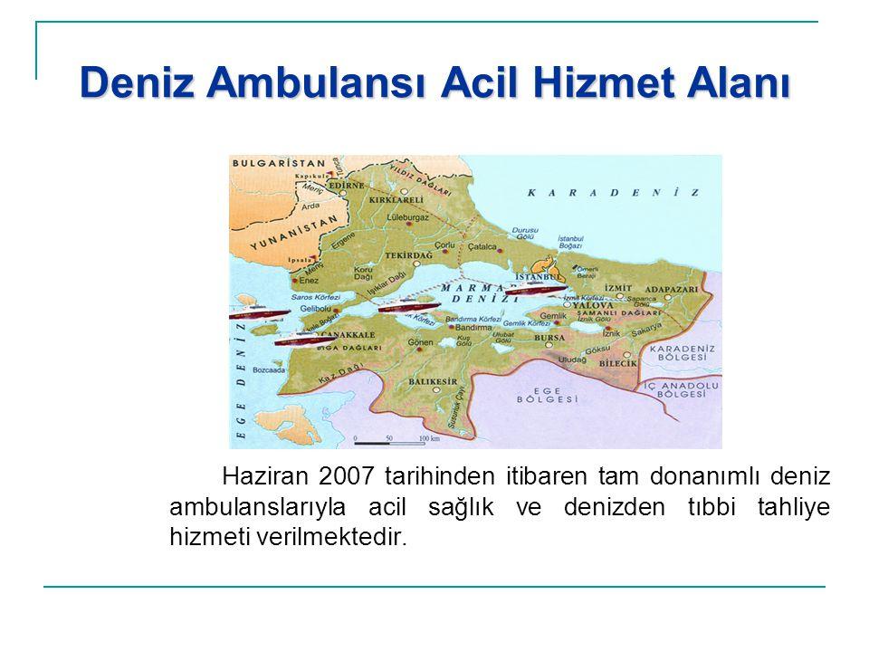 Deniz Ambulansı Acil Hizmet Alanı