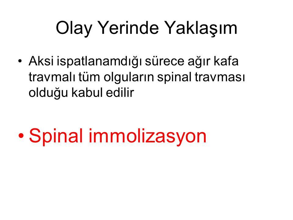 Spinal immolizasyon Olay Yerinde Yaklaşım