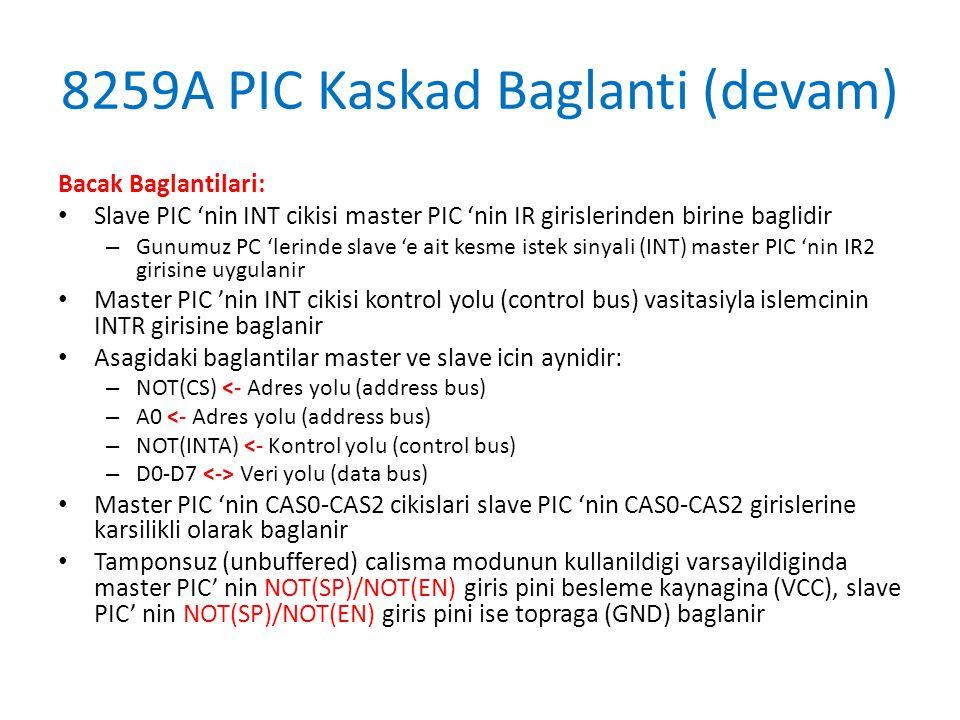 8259A PIC Kaskad Baglanti (devam)