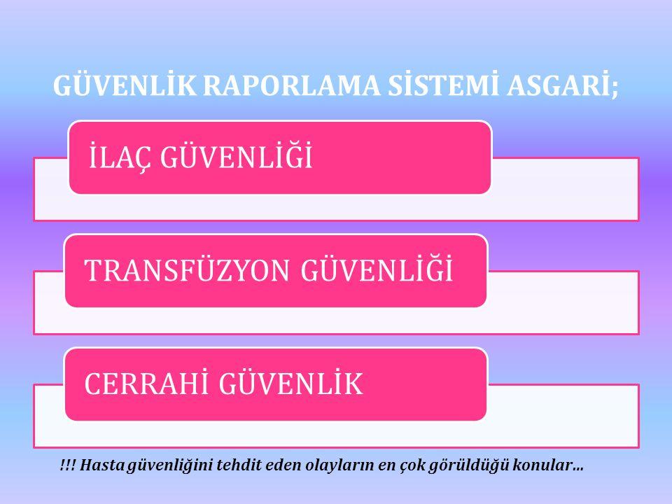 GÜVENLİK RAPORLAMA SİSTEMİ ASGARİ;