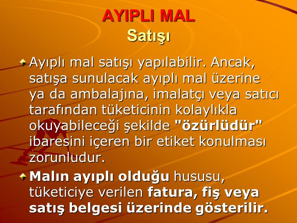 AYIPLI MAL Satışı