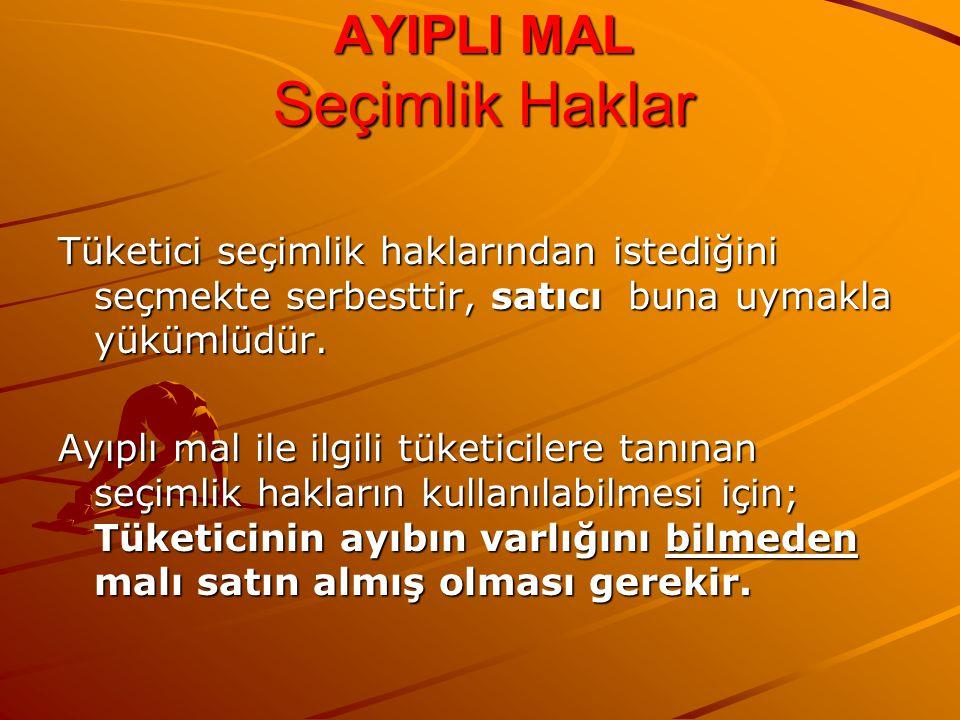 AYIPLI MAL Seçimlik Haklar