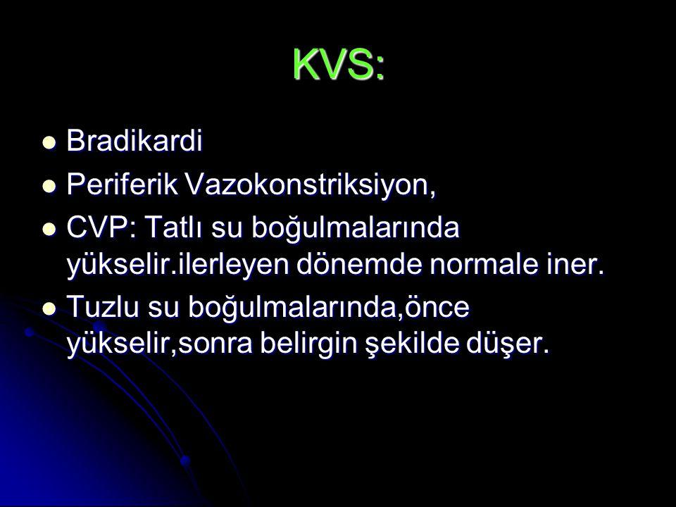 KVS: Bradikardi Periferik Vazokonstriksiyon,
