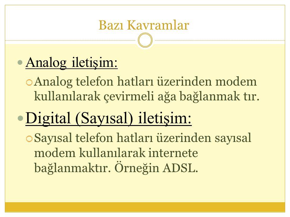 Digital (Sayısal) iletişim: