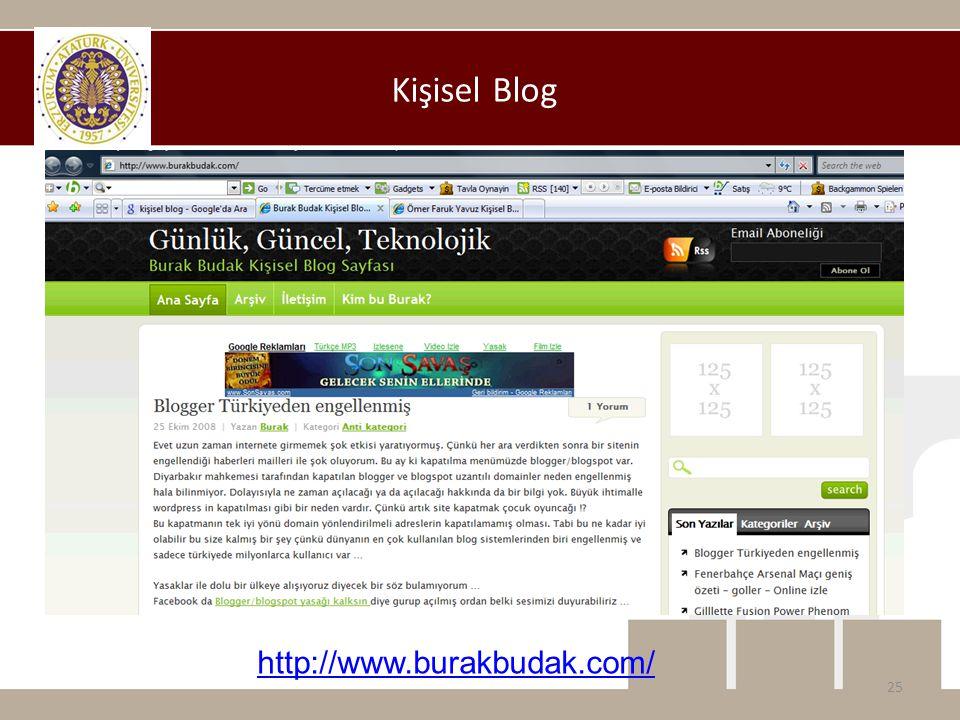Kişisel Blog http://www.burakbudak.com/