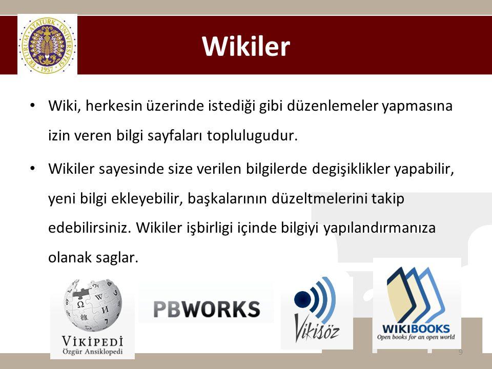 Wikiler Wiki, herkesin üzerinde istediği gibi düzenlemeler yapmasına izin veren bilgi sayfaları toplulugudur.