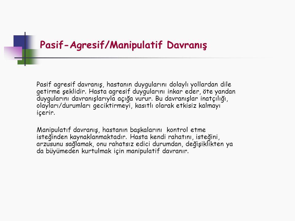 Pasif-Agresif/Manipulatif Davranış