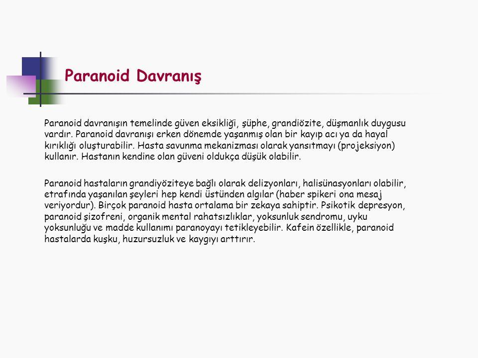 Paranoid Davranış