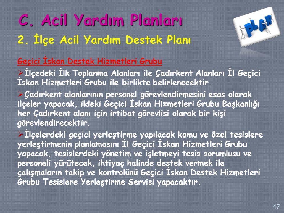 C. Acil Yardım Planları 2. İlçe Acil Yardım Destek Planı