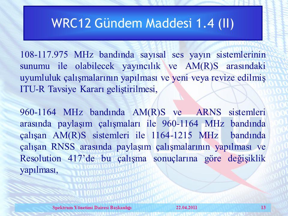 WRC12 Gündem Maddesi 1.4 (II)