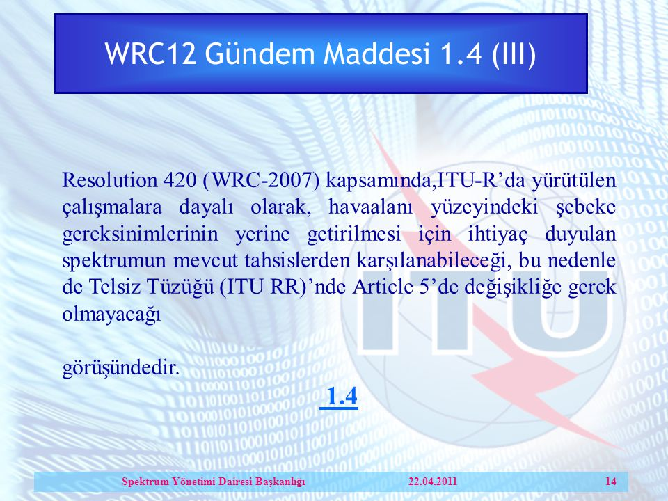 WRC12 Gündem Maddesi 1.4 (III)