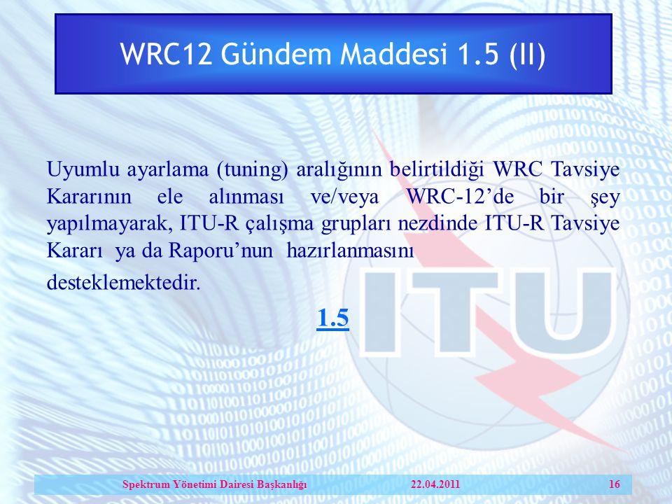 WRC12 Gündem Maddesi 1.5 (II)
