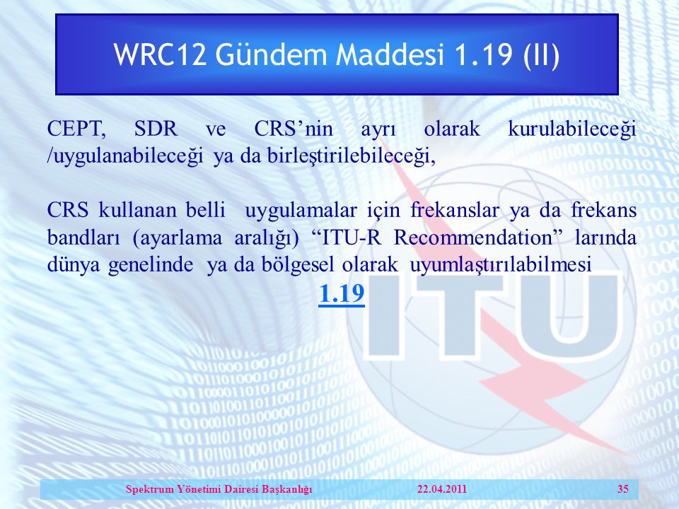 WRC12 Gündem Maddesi 1.19 (II)
