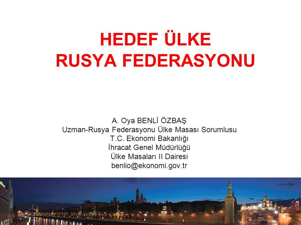 HEDEF ÜLKE RUSYA FEDERASYONU