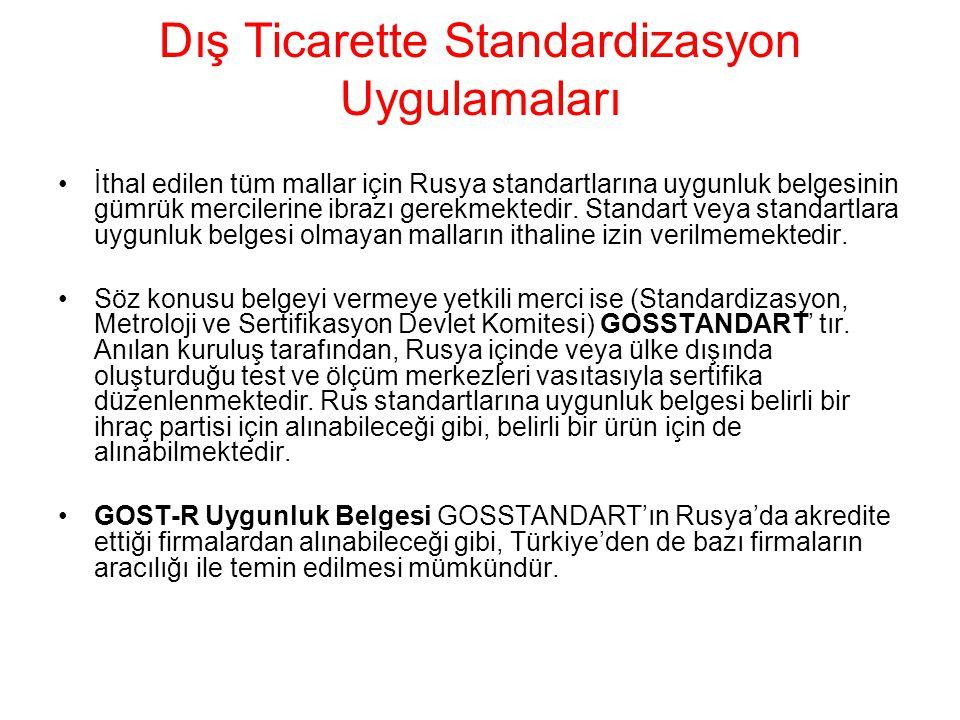 Dış Ticarette Standardizasyon Uygulamaları