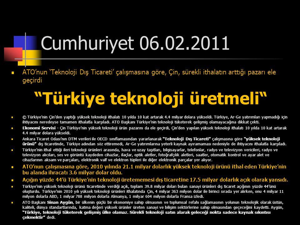 Türkiye teknoloji üretmeli
