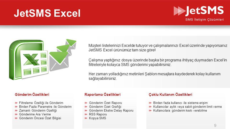 JetSMS Excel