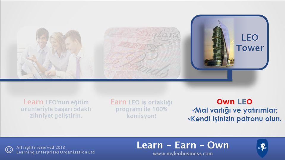 LEO Tower Own LEO Mal varlığı ve yatırımlar;
